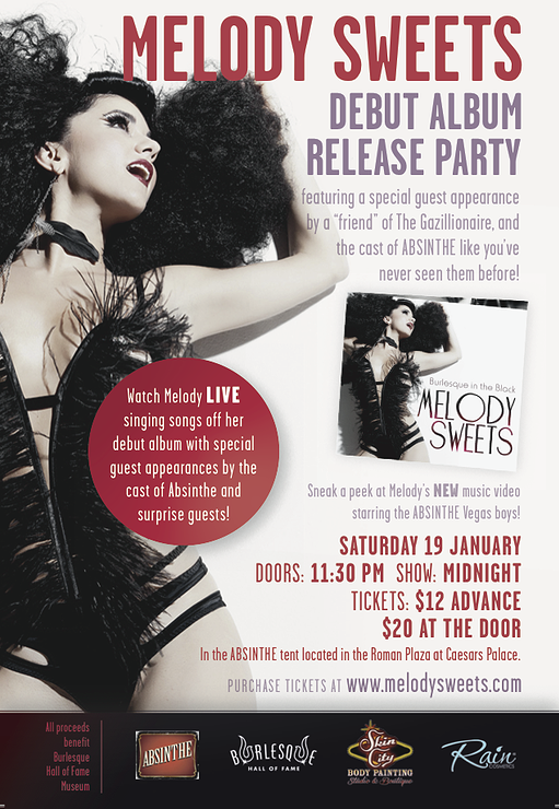 Melody Sweets Albim Release flyer